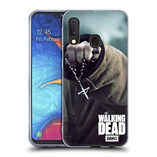 Head Case Designs Offizielle AMC The Walking Dead Rosenkranz Schlüssel Kunst Soft Gel Huelle kompatibel mit Samsung Galaxy A20e (2019) - Kunst Der Rosenkranz In Der