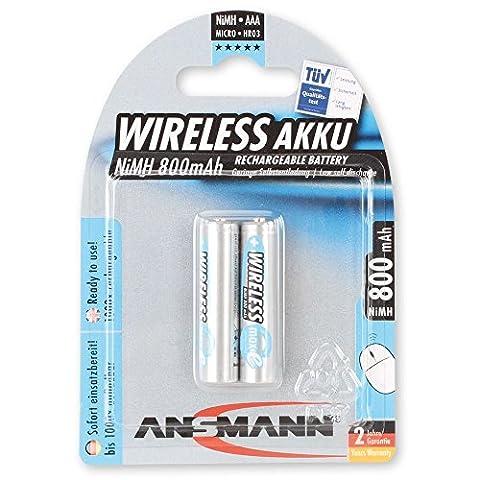 Ansmann Accumulateur pour clavier et souris sans fil AAA 800mAh