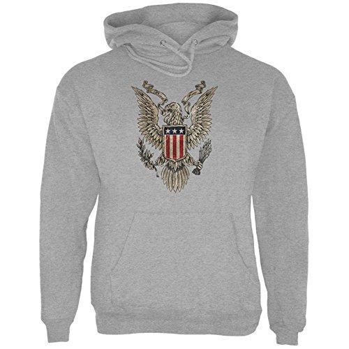 4. Juli geboren kostenlos Vintage American Bald Eagle mens Hoodie Storm Grey MD (Eagle Outerwear American)