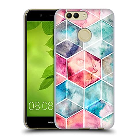 Offizielle Micklyn Le Feuvre Hexagon Kuben Muster 6 Soft Gel Hülle für Huawei Nova 2 Plus
