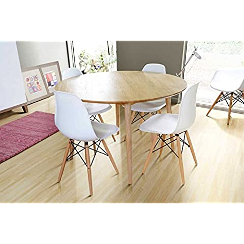 MY-Furniture – TRETTON – Mesa de comedor redonda de roble macizo