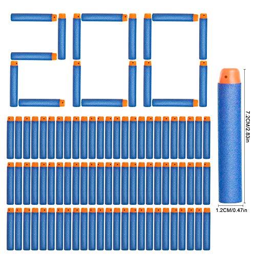NextX 200er Pfeile Zubehör für Nerf Gun Box-verpackung Darts für Nerf N-Strike Elite Blasters Pistole(Blau)