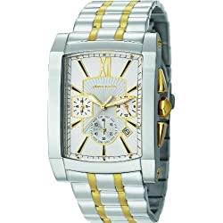 Pierre Cardin Men's Pont Des Arts Quartz Watch with White Dial Chronograph Display and Multi-Colour Stainless Steel Wristwatch PC105411F06