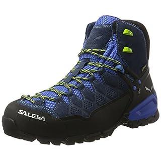 Salewa Ms Alp Trainer Mid Gtx, Herren Trekking- & Wanderstiefel, Blau (Dark Denim/Cactus 0361), 44 EU