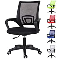 Birtech Black Office Chairs Computer Desk Chair Executive Mesh Chair Ergonomic Comfy Swivel Chair for Home/Office