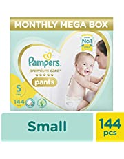 Pampers Premium Care Pants Diapers, Small (144 Count)