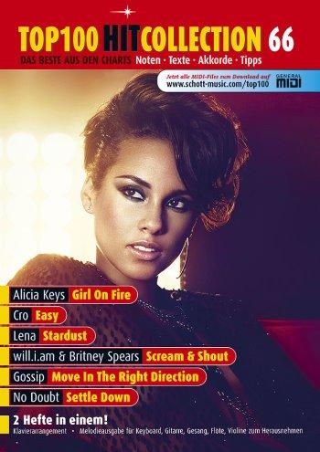 Top 100 Hit Collection 66, 6 aktuelle Charthits von Lena, Gossip, Alicia Keys u.a. für Klavier/Keybord und Gitarre [Musiknoten] Uwe Bye Ed.