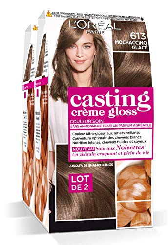 L'Oréal Paris Casting Crème Gloss Coloration Ton Sur Ton Sans Ammoniaque 6.13 Mochaccino Lot de 2