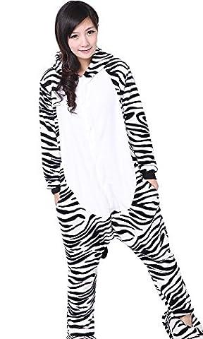 Meilleur Costume Pikachu - Pyjama Onesie Costume Zebre design Cosplay- Adulte