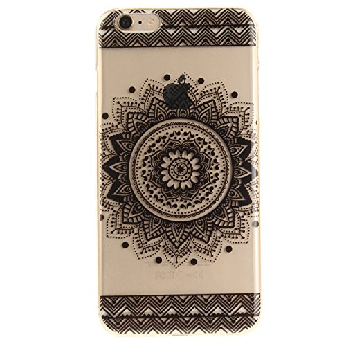Custodia per iPhone 6/6S Plus,SKYXD Lusso Luminosa Brillante Strass Creativo Disegni Rainbow Cover Trasparente Silicone Antiurto Case per Apple iPhone 6/6S Plus Case Custodia per iPhone 6 Plus iPhone  Nero Colorato Fiore
