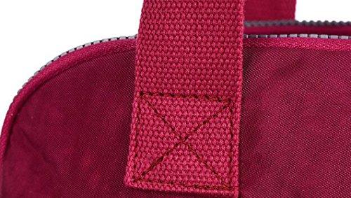 Große Kapazität Wasserdichte Nylon Sporttasche Casual Wilden Multi-Fach Einzigen Schultertasche Red1