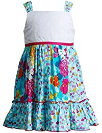 Youngland Toddler Girls Floral Dress, Turquoise (2T)
