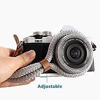 Generic Digital Camera Wrist Strap Handmade Soft Cotton Camera Wristband Strap for Leica Canon Nikon Fuji Olympus Lumix Sony (Silver)