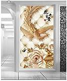 Tapete mit Experten, weiche continental3dseamless Stucco Embossed reichen hyun Blumen-Hintergrund aus Papier, das sich mit der Tapete für Wände,