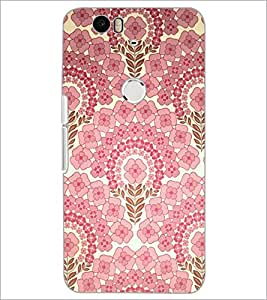 PrintDhaba Floral Pattern D-2106 Back Case Cover for HUAWEI NEXUS 6P (Multi-Coloured)