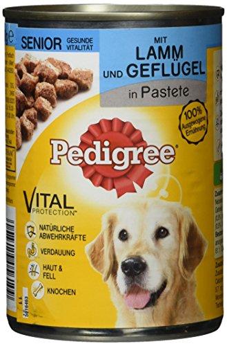 Pedigree Senior Hundefutter Lamm und Geflügel, 12 Dosen (12 x 400 g)