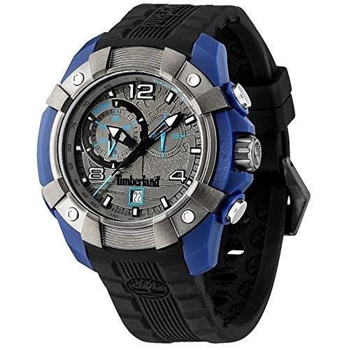 Timberland Herren Chronograph Quarz Uhr mit Silikon Armband TBL.13356JPBLU.61
