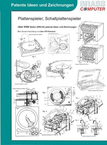 Plattenspieler / Schallplattenspieler, über 9000 Seiten (DIN A4) patente Ideen und Zeichnungen