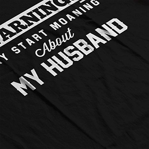 Warning May Start Moaning About My Husband Men's Hooded Sweatshirt Black