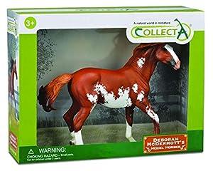 Collecta - Semental Mustang Castaño Overo, Deluxe Caja 1:12 89806 Colle 90189806