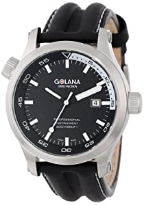 Reloj de caballero Golana Aqua Pro Swiss AQ100.1 de cuarzo, correa de piel color varios colores de Golana
