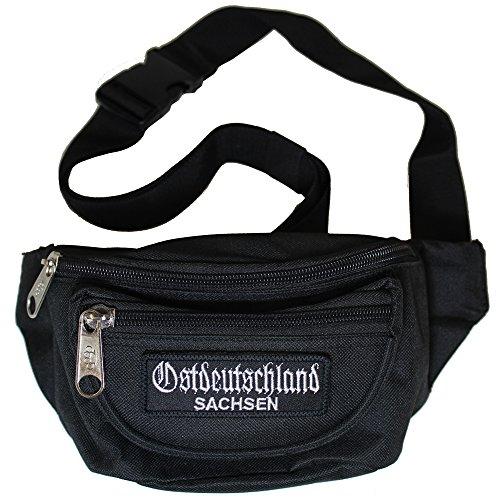 No Face No Name Gürteltasche Ostdeutschland Sachsen Klett - Riñonera unisex Negro negro Breite 21cm, Höhe 12cm