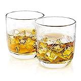Verres à whisky engravés à 280 ml ACE | Décorations Poker | L'artisanat Europeen | Boîte de cadeau en couleur | Ensemble de 2