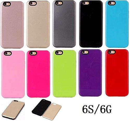 iPhone Case Cover Couverture de cas d'IPhone 6S, couverture rigide en plastique solide de protection arrière anti-rayures et aucune empreinte digitale. ( Color : Rose Gold , Size : IPhone 6S ) Blue