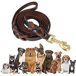 Correa Para Perros, FOCUSPET 2 m piel ajustable perros Animales Pet Doble Cuerda Leash Rope perro Dog pecho transpirable Cómodo Durevole Arnés para grande/medio/pequeño