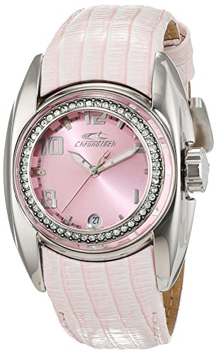 Chrono tech donna-Orologio da polso al quarzo in pelle CT7704B/18S