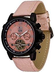 Lindberg & Sons Reloj Automático piraeus Esfera de Color Rosa Y Correa De Piel