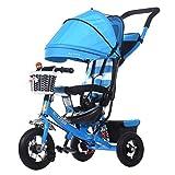 BBZZZ-Kombikinderwagen Schwenkräder Reisesystem Kinder Trike geeignet für 1-5 Jahre alt Baby, Baby Bike Tricycle Trolley Kleinkind Fahrrad, Multifunktions