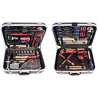 Projahn 8685 Proficraft Werkzeugkoffer SANITÄR 95-tlg./Werkzeugkasten/Werkzeug Set - umfangreiches Sortiment für Sanitärtätigkeiten/robuster ABS-Kunststoff/abschließbar/Übersichtliche Anordnung