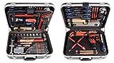 Projahn 8685 Proficraft Werkzeugkoffer SANITÄR 95-tlg. / Werkzeugkasten / Werkzeug Set - umfangreiches Sortiment für Sanitärtätigkeiten / robuster ABS-Kunststoff / abschließbar / Übersichtliche Anordnung