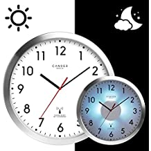 Cander Berlin MNU 5230 Weiße Funkwanduhr Aus Aluminium Mit Lautlosem  Uhrwerk, Lichtsensor Und 5