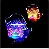 MDRW-Tasses d'eau individuels Induktion Glas LED Licht liebevolle Schale, Tasse, blinkt Paare kreatives Geschenk, Wein Glas