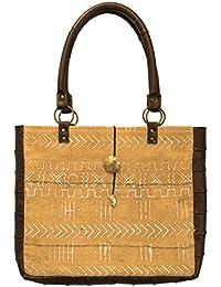 Mkoba Wa Msomaji Bag Of The Reader Tote Mustard & White By KAULI