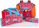 Scout Schulranzen-Set Basic Mega Set 1 5 tlg Little Flowers 97 cm Rot 70500729000