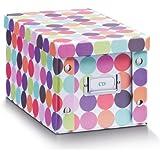 "Zeller 17890 CD-box  ""Dots"" Pappe, 16.5 x 28 x 15 cm"