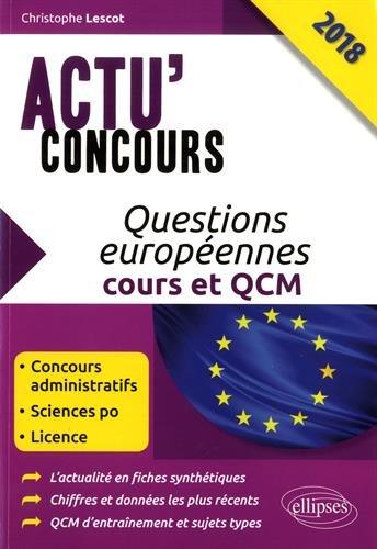 Questions européennes - cours et QCM 2018