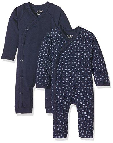 Care Baby-Jungen Spieler Bio Baumwolle, 2er Pack, Blau (Dark Navy 778), 56