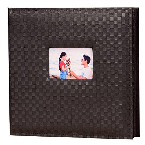 Maschine Schwarz Katalog (FOOHAO- Legen Sie Typ PU Retro Plaid Fotoalbum, große Kapazität 4 X6 600 Fotos,, Black Particle Core, Startseite Hochzeit Baby Grow Memorial Book ( Farbe : Schwarz ))