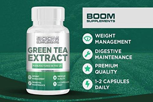 Grüner Tee Extrakt Kapseln 850mg | Grüntee Extrakt 850mg Höchste Stärke | 120 wirkungsvolle Fett-Burner Kapseln | Grüntee Kapseln | Hilft Männern und Frauen bei der Fettverbrennung | Erreichen Sie SCHNELL
