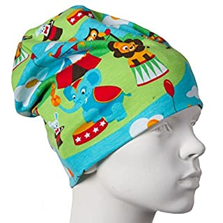 JNY Colourful Kids - Boys Girls Baby Transitional Cap Beanie Lion Circus - Colourful, 44-46 (Head Circumference 44-46)