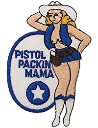 ECUSSON / PATCH BRODE PISTOL PACKIN MAMA COW-GIRL 442302-630 AIRSOFT