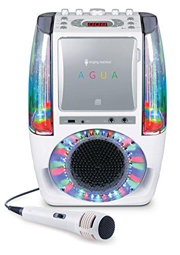 Preisvergleich Produktbild Singing Machine SML605W UA Tanzendes Wasserbrunnen Bluetooth Karaoke-System mit LED Disco Lichtern, kabelgebundenem Mikrofon und 3 CD weiß