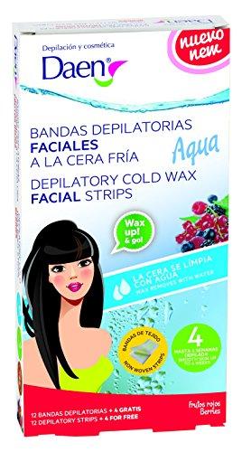 Daen - bandas depilatorias faciales cera fría frutos