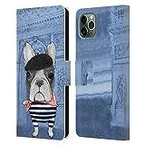 Head Case Designs Ufficiale Barruf Bulldog Francese Cani Cover in Pelle a Portafoglio Compatibile con iPhone 11 PRO Max