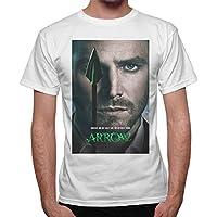 T-Shirt Uomo Arrow Freccia Verde Serie Tv Locandina -