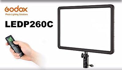 Godox LEDP260C Ultra Slim LED Interview Video Light (Black)